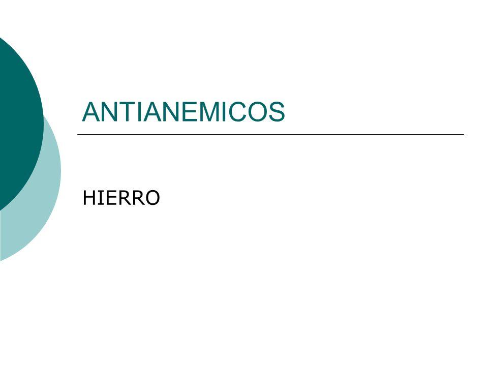 ANTIANEMICOS HIERRO