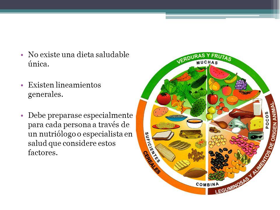 No existe una dieta saludable única.