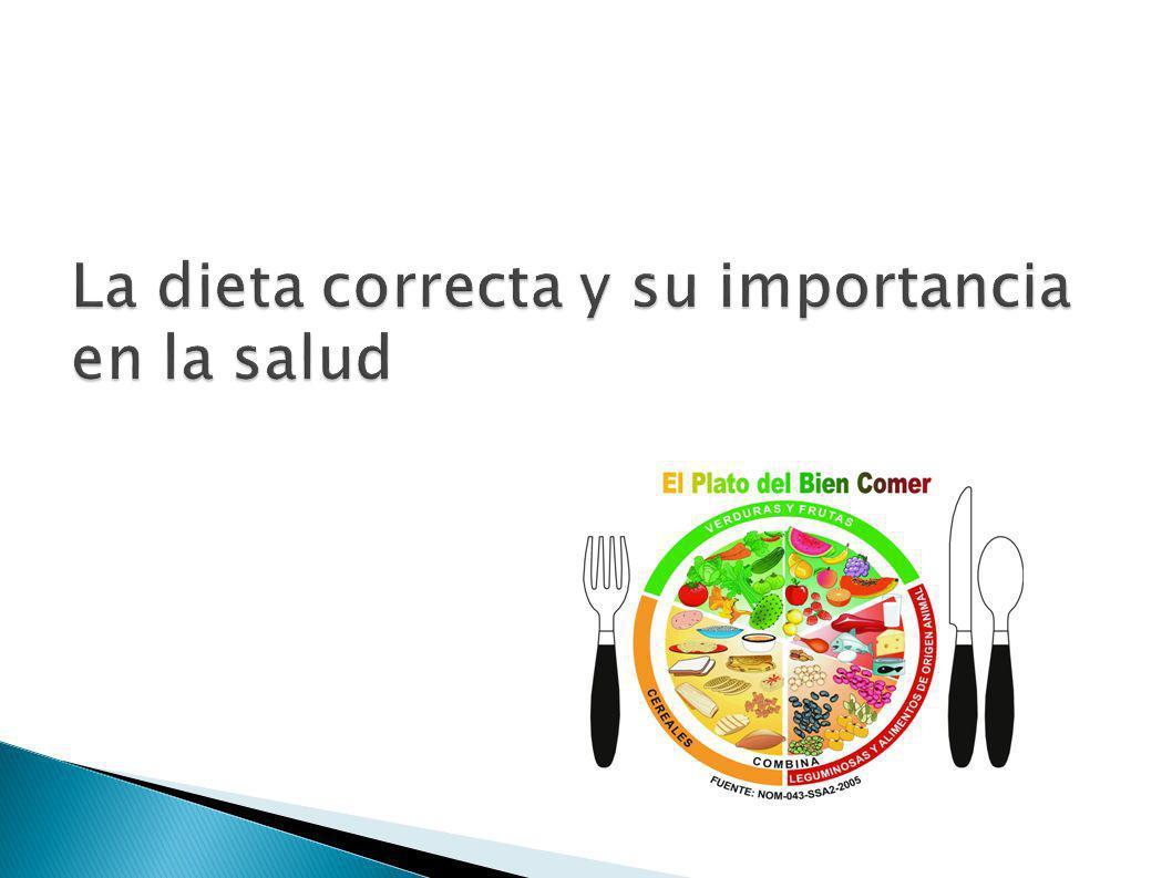 La dieta correcta y su importancia en la salud