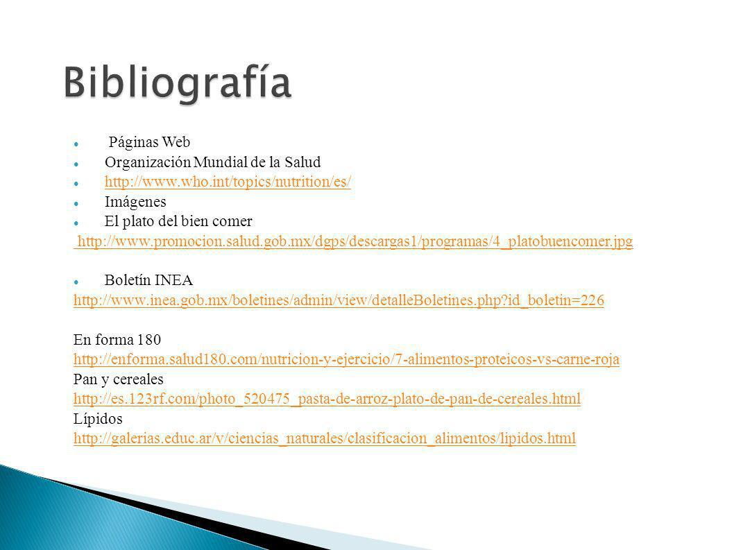 Bibliografía Páginas Web Organización Mundial de la Salud