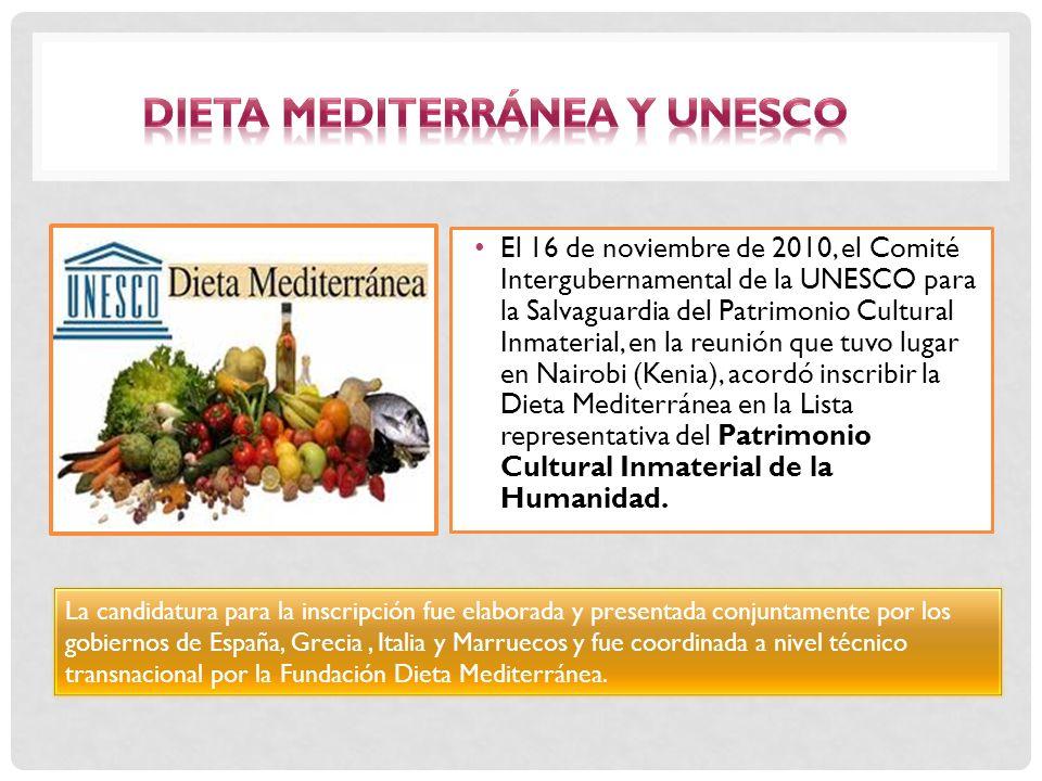 Dieta Mediterránea y UNESCO
