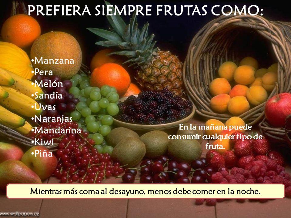 PREFIERA SIEMPRE FRUTAS COMO: