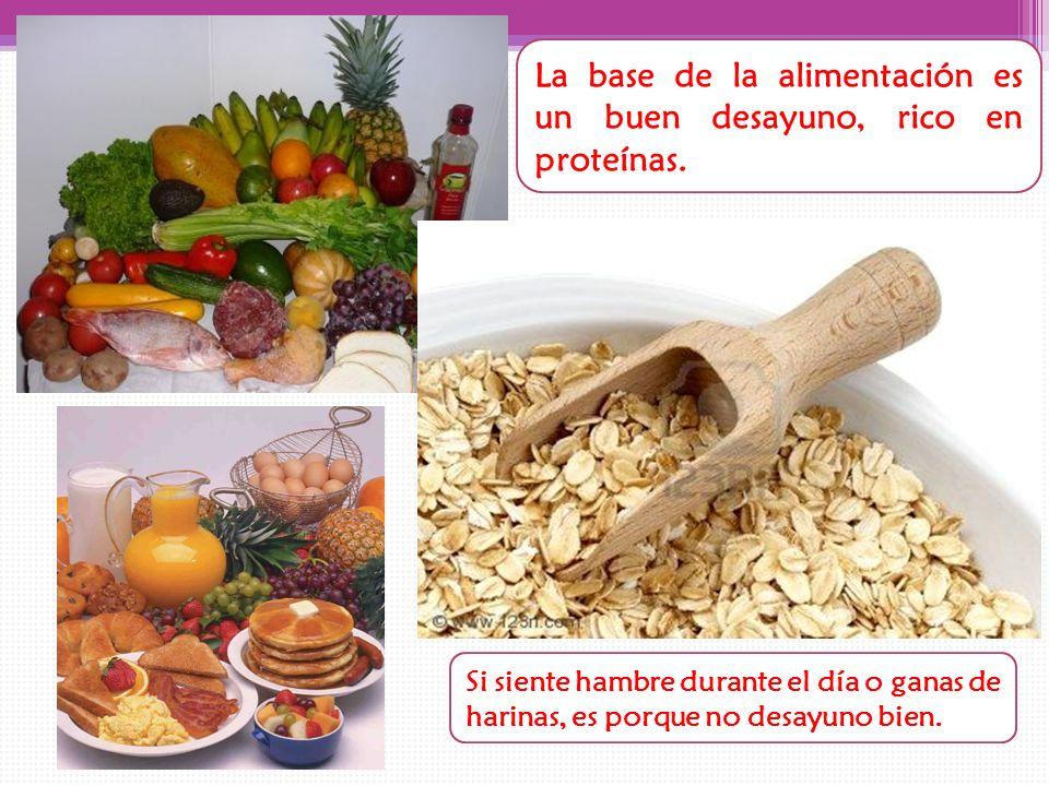 La base de la alimentación es un buen desayuno, rico en proteínas.