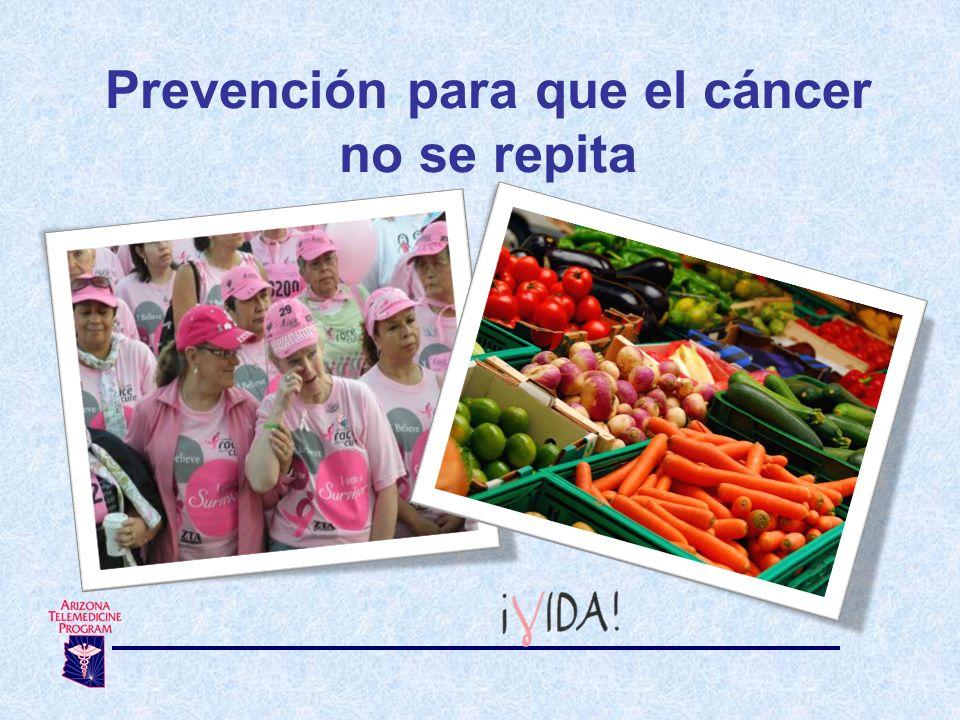 Prevención para que el cáncer no se repita