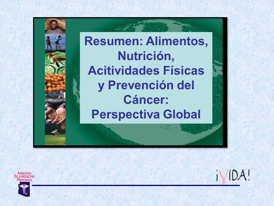 Resumen: Alimentos, Nutrición, Acitividades Físicas