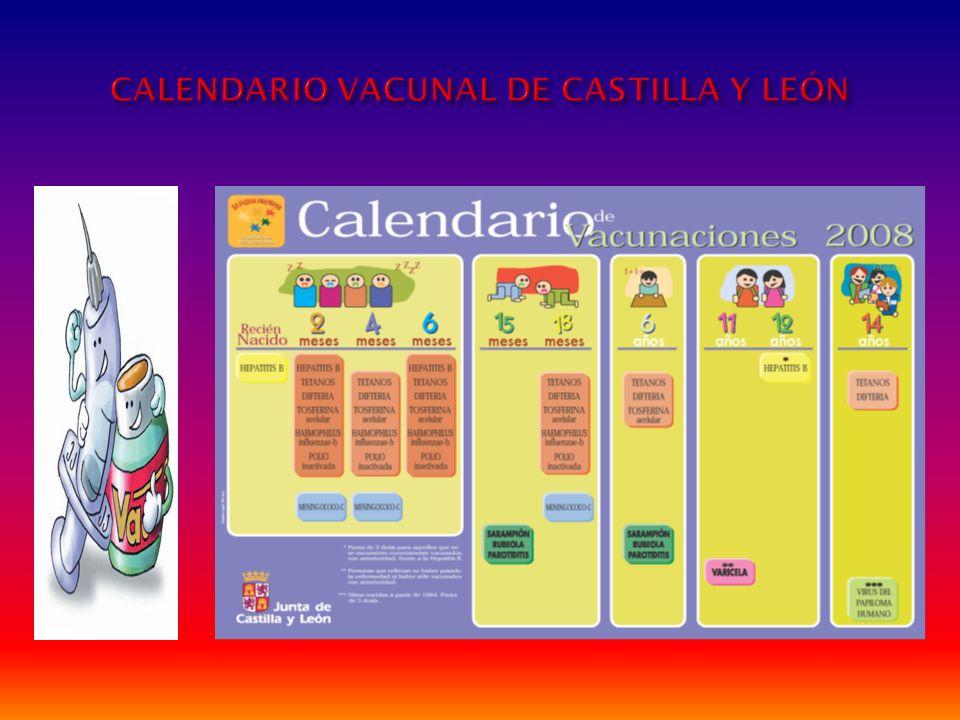 CALENDARIO VACUNAL DE CASTILLA Y LEÓN