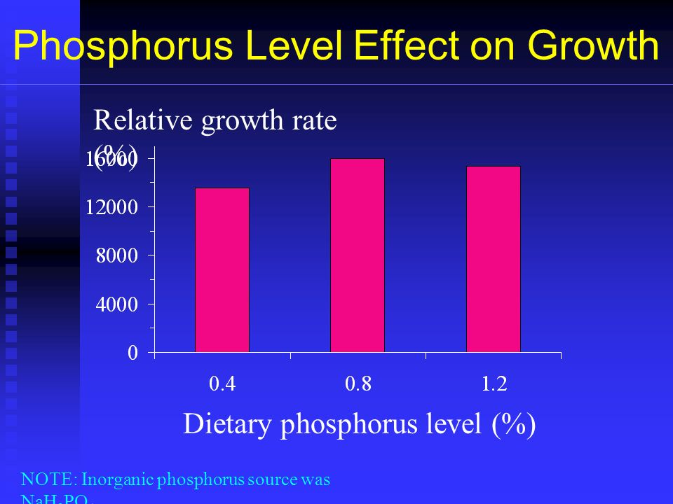 Phosphorus Level Effect on Growth