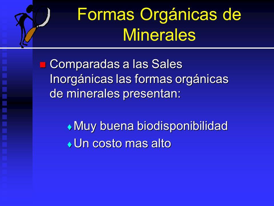 Formas Orgánicas de Minerales