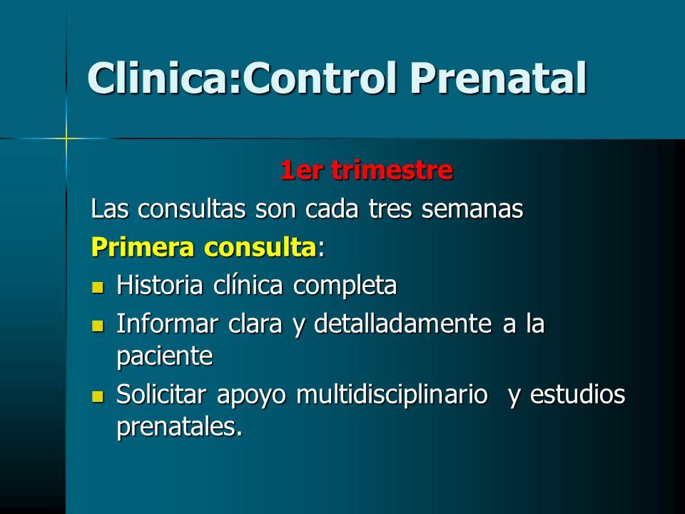 Clinica:Control Prenatal