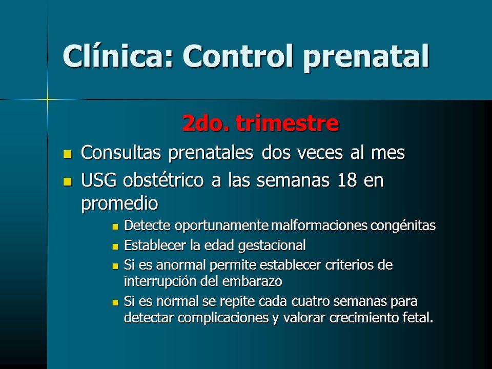 Clínica: Control prenatal