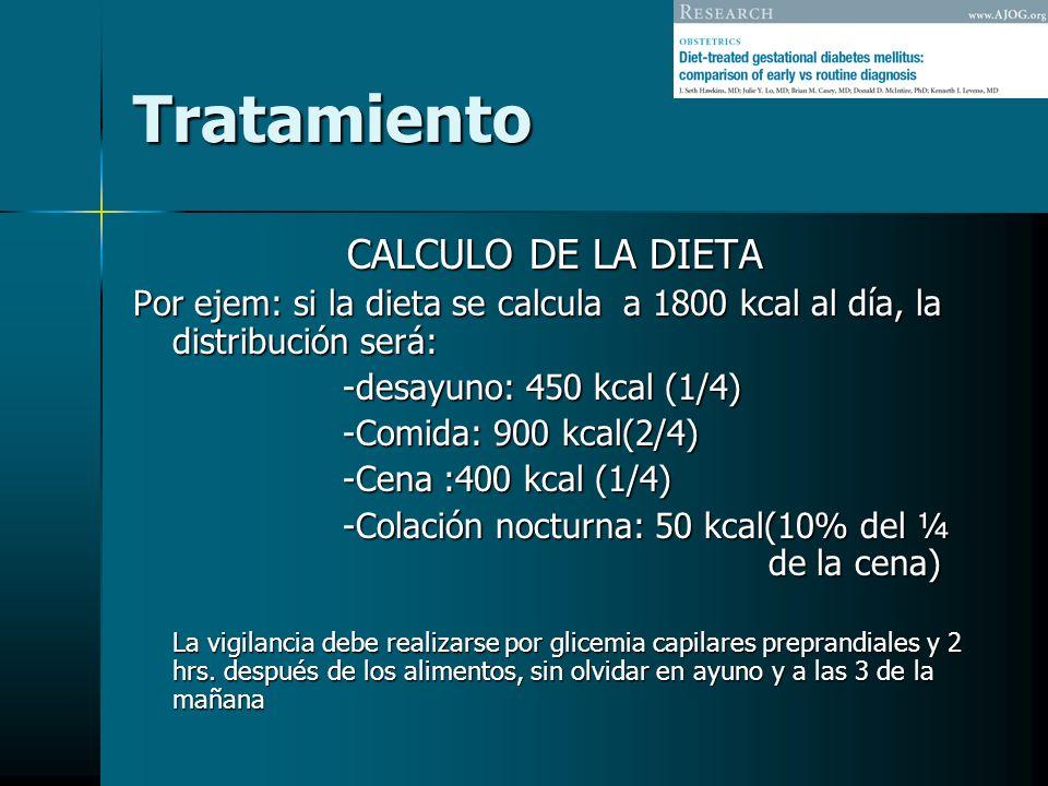 Tratamiento CALCULO DE LA DIETA