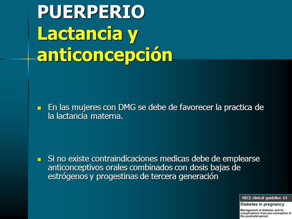 PUERPERIO Lactancia y anticoncepción