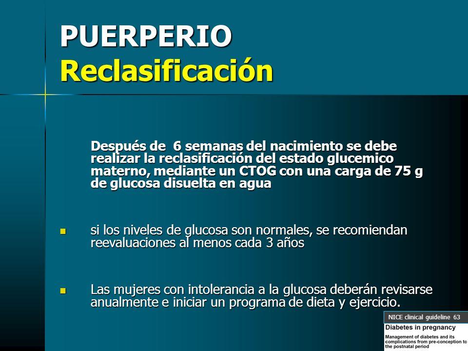 PUERPERIO Reclasificación