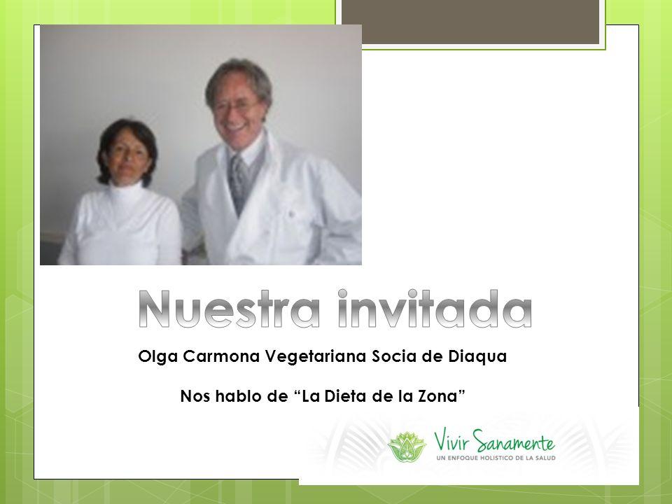 Nuestra invitada Olga Carmona Vegetariana Socia de Diaqua