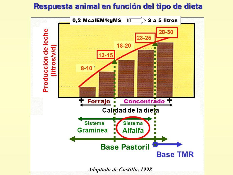 Producción de leche (litros/v/d)