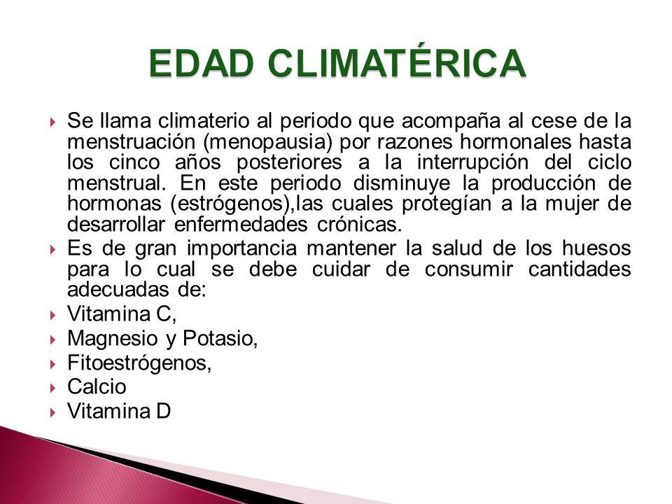 EDAD CLIMATÉRICA