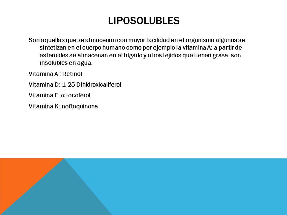 Liposolubles