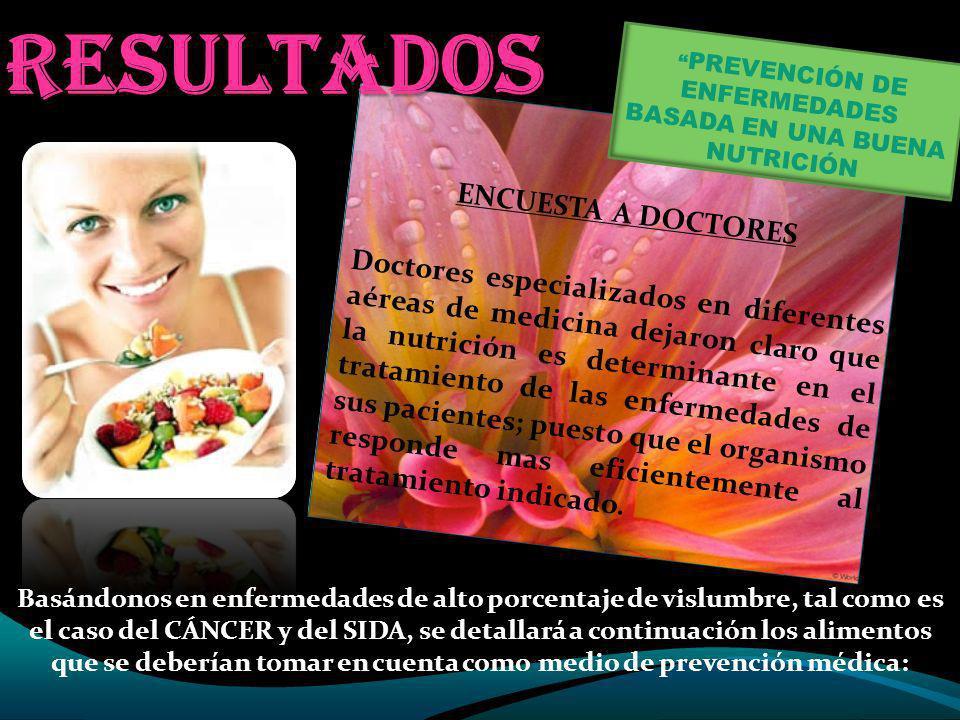 PREVENCIÓN DE ENFERMEDADES BASADA EN UNA BUENA NUTRICIÓN