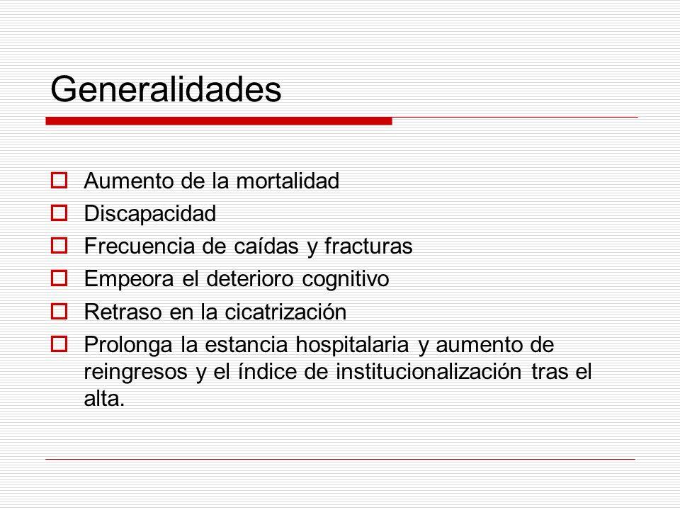 Generalidades Aumento de la mortalidad Discapacidad