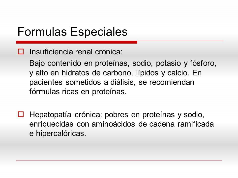 Formulas Especiales Insuficiencia renal crónica: