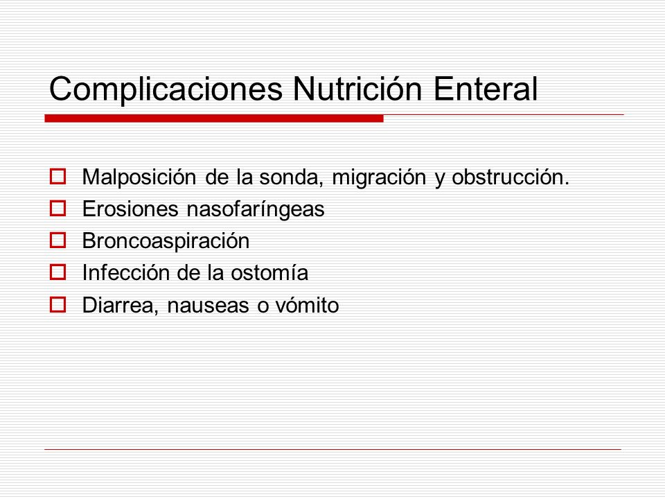 Complicaciones Nutrición Enteral