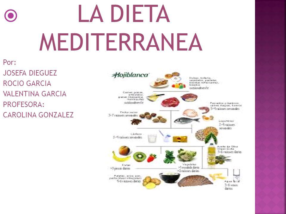 LA DIETA MEDITERRANEA Por: JOSEFA DIEGUEZ ROCIO GARCIA