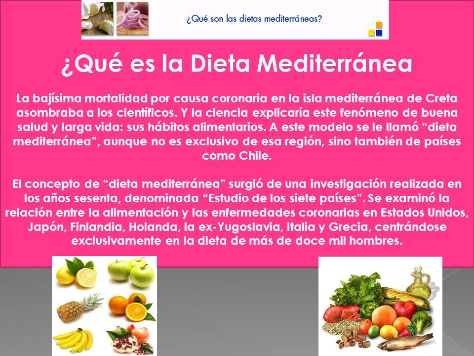 ¿Qué es la dieta Mediterránea
