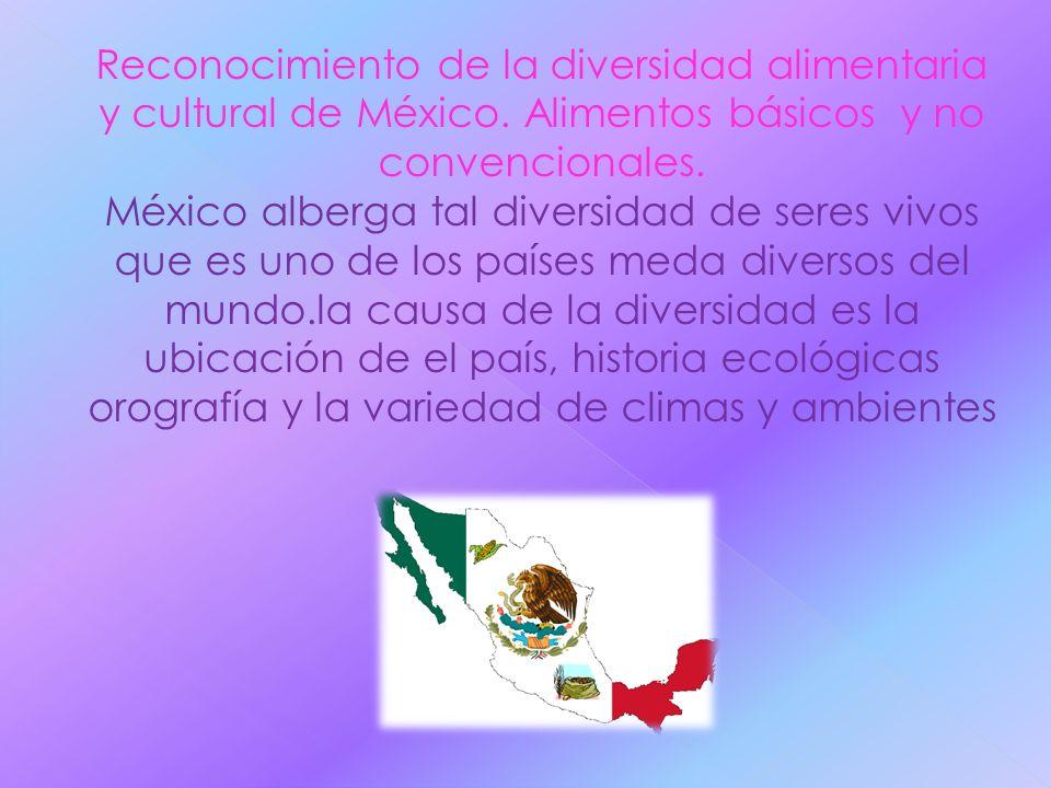 Reconocimiento de la diversidad alimentaria y cultural de México