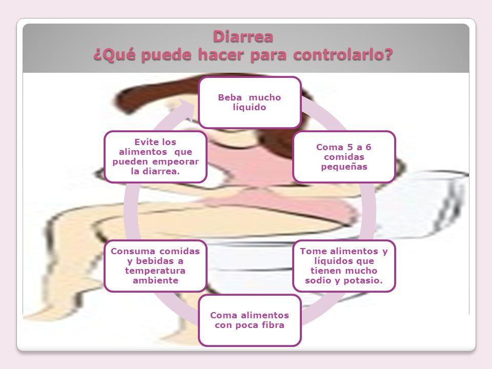 Diarrea ¿Qué puede hacer para controlarlo