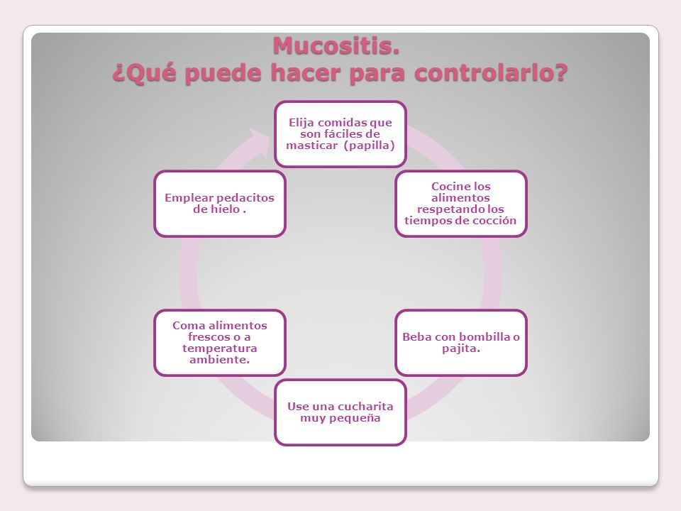 Mucositis. ¿Qué puede hacer para controlarlo