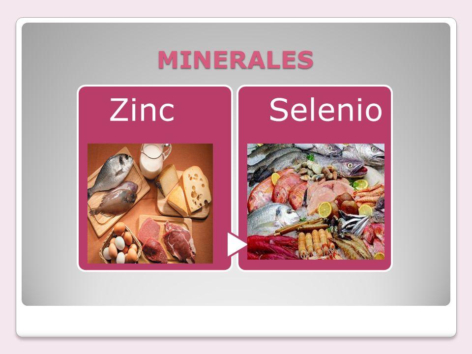 MINERALES Zinc Selenio