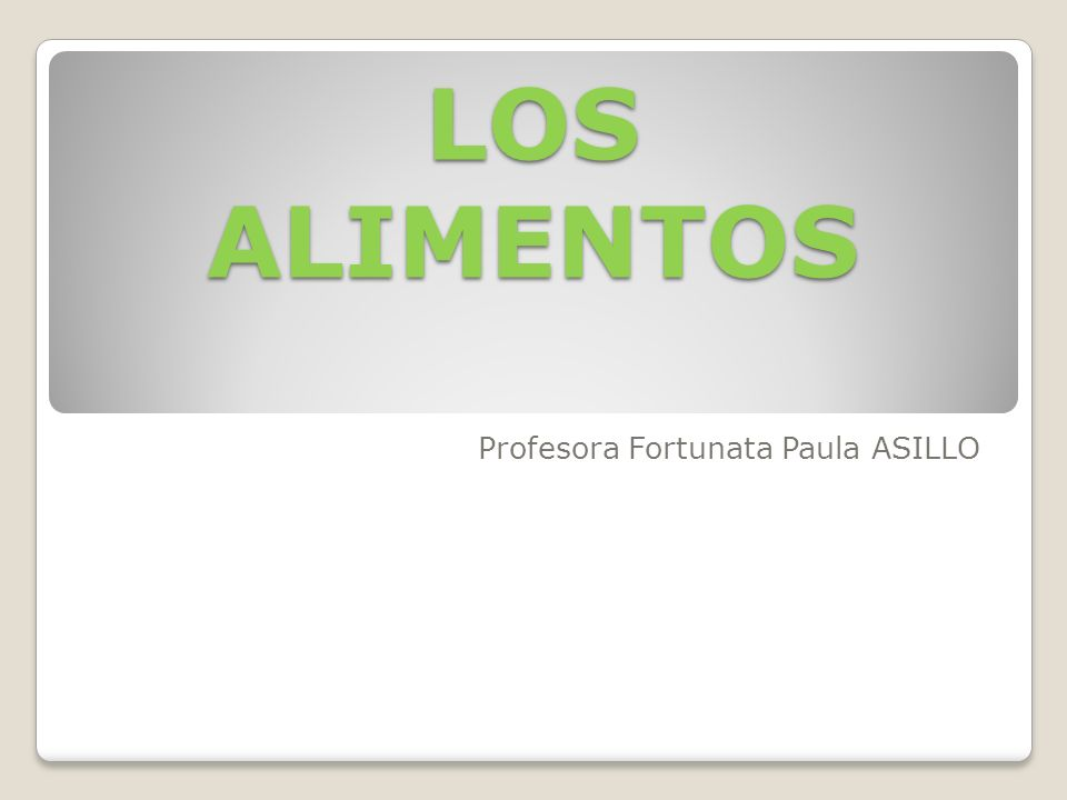 Profesora Fortunata Paula ASILLO