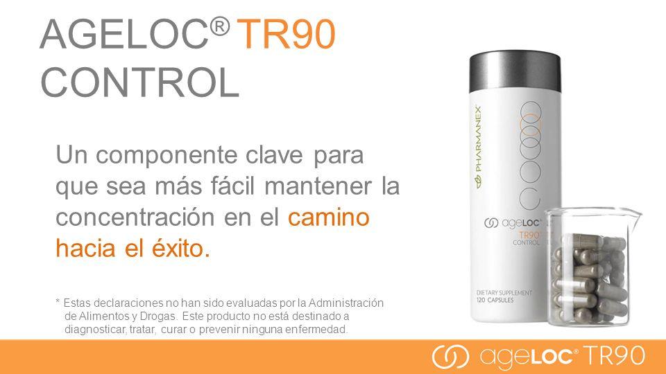 AGELOC® TR90 CONTROL Un componente clave para que sea más fácil mantener la concentración en el camino hacia el éxito.