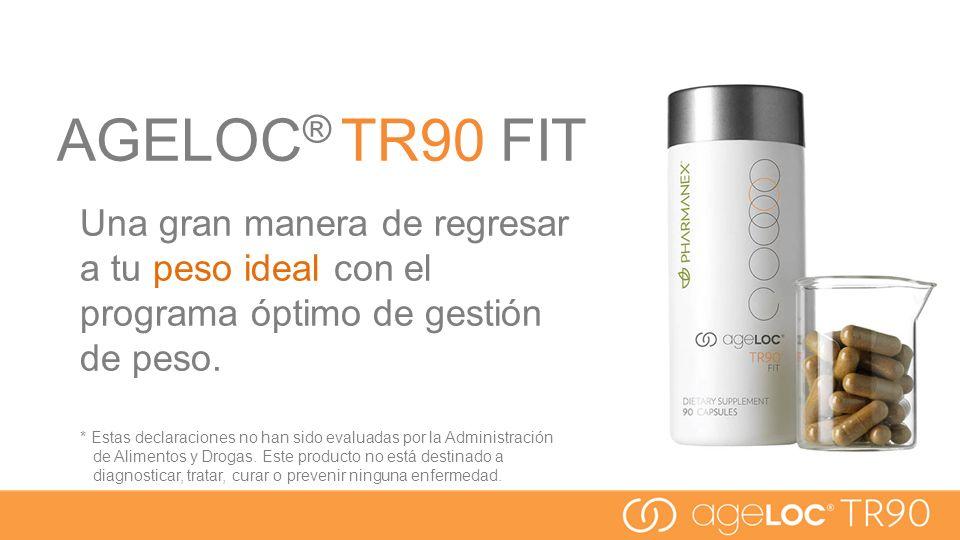 AGELOC® TR90 FIT Una gran manera de regresar a tu peso ideal con el programa óptimo de gestión de peso.