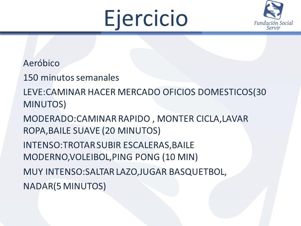 Ejercicio Aeróbico 150 minutos semanales