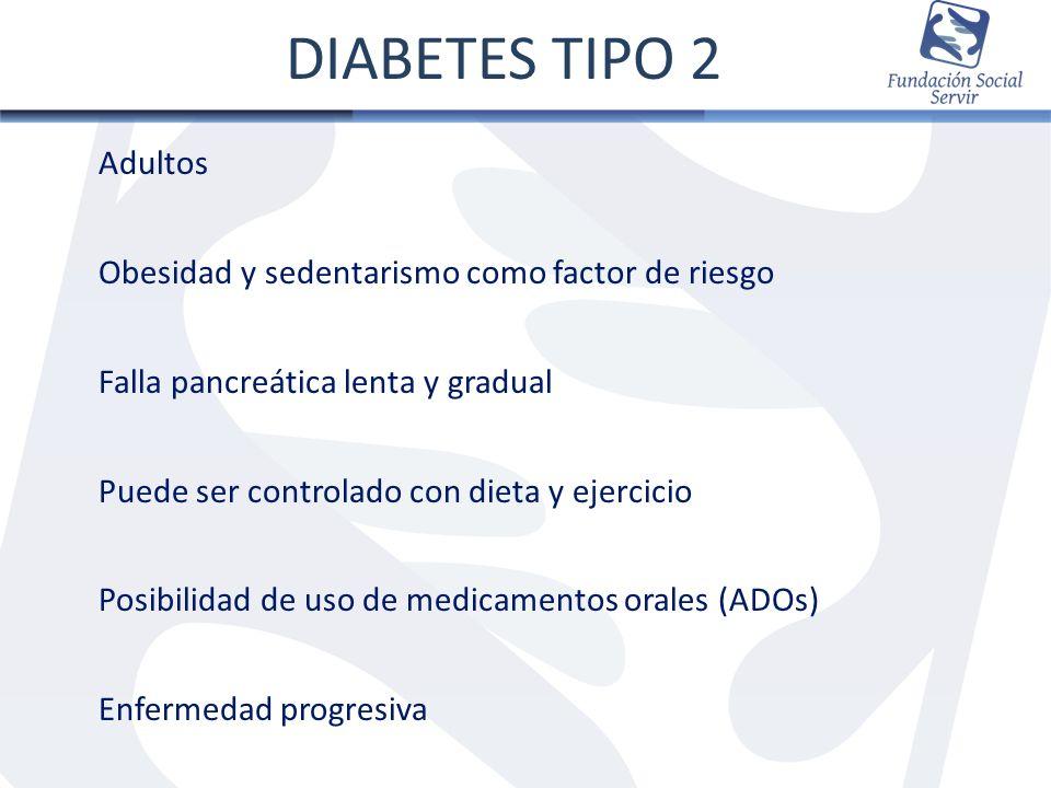 DIABETES TIPO 2 Adultos Obesidad y sedentarismo como factor de riesgo
