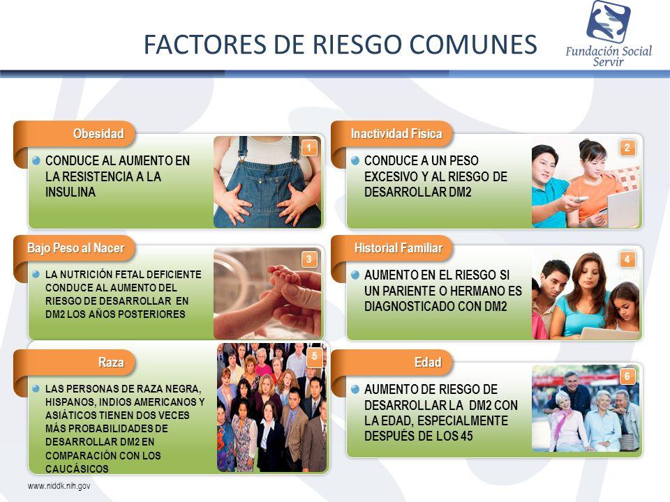 FACTORES DE RIESGO COMUNES