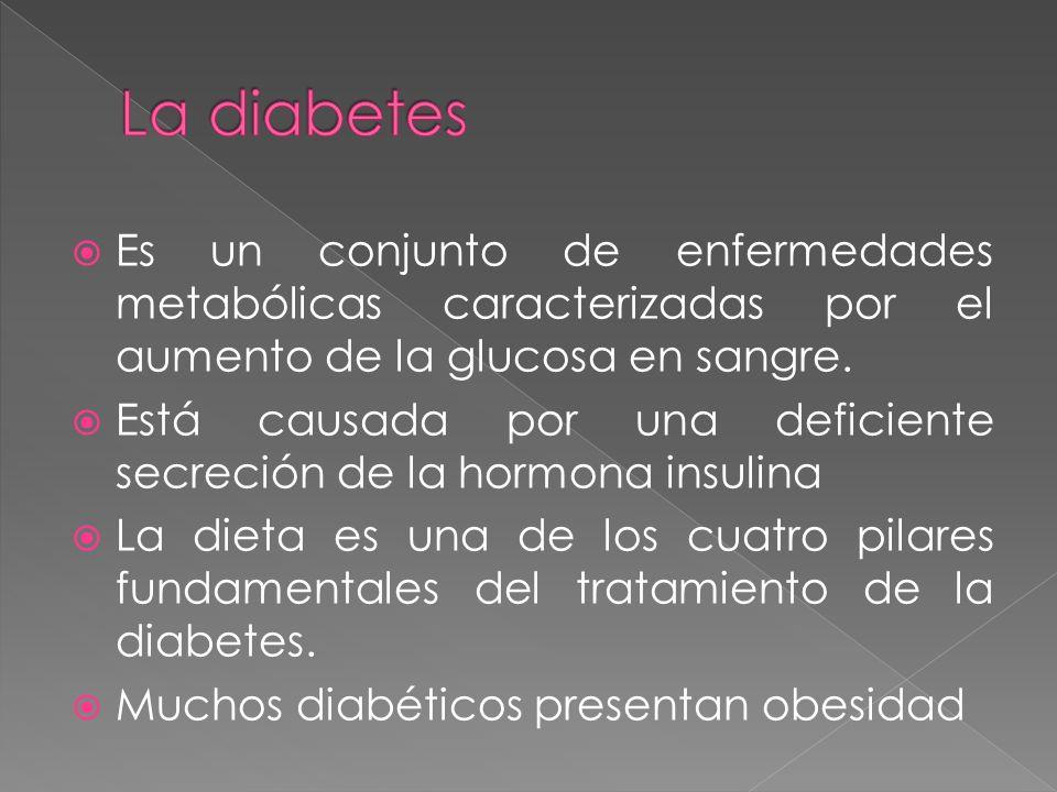 La diabetes Es un conjunto de enfermedades metabólicas caracterizadas por el aumento de la glucosa en sangre.