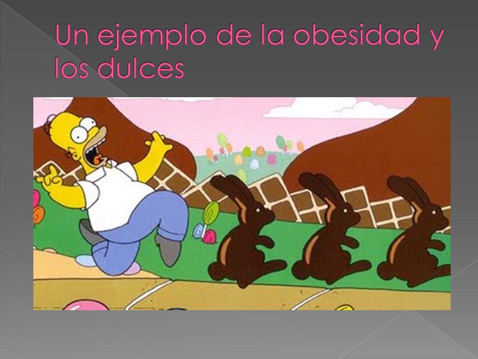 Un ejemplo de la obesidad y los dulces