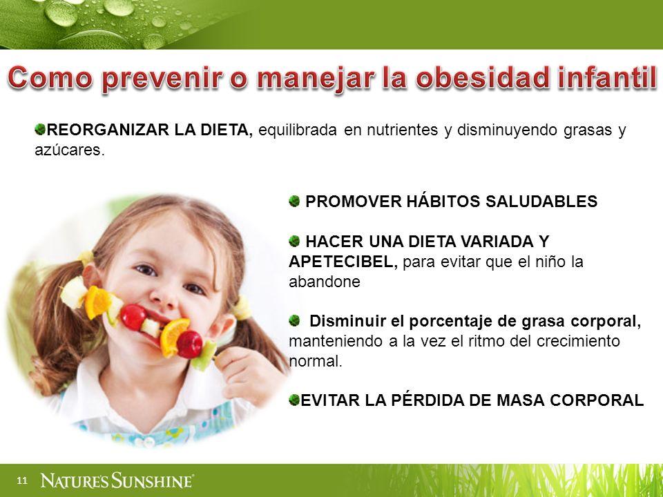 Como prevenir o manejar la obesidad infantil