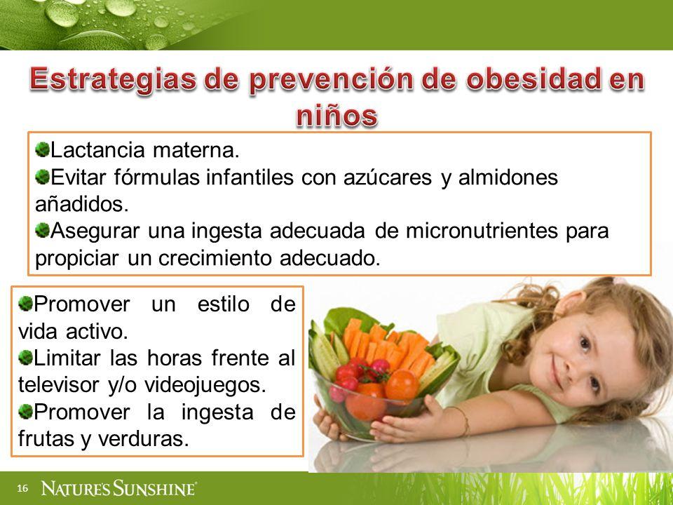Estrategias de prevención de obesidad en niños