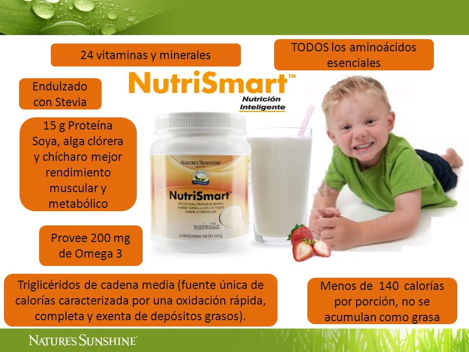 TODOS los aminoácidos esenciales 24 vitaminas y minerales