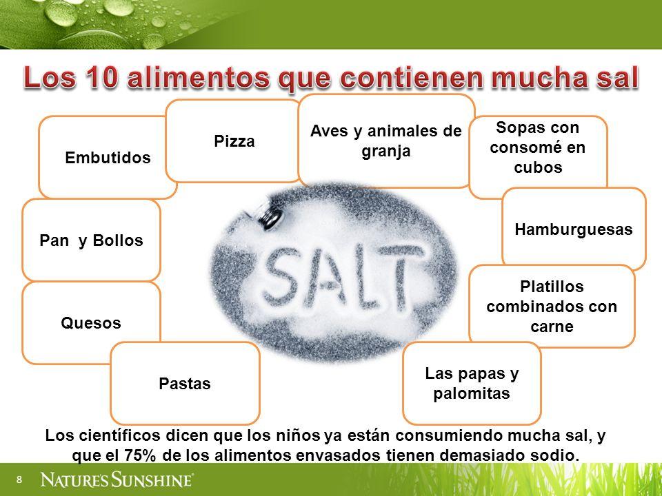 Los 10 alimentos que contienen mucha sal