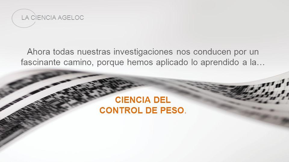 CIENCIA DEL CONTROL DE PESO.