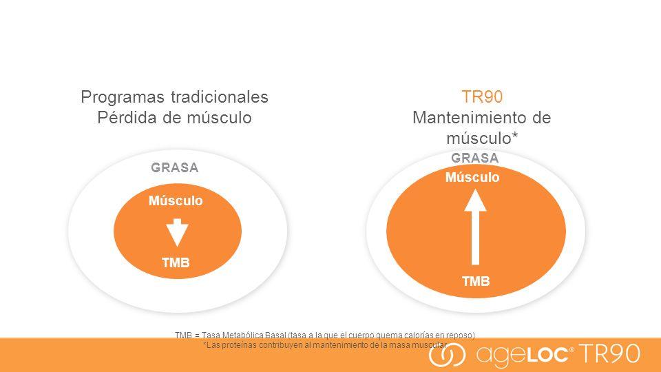 Programas tradicionales Pérdida de músculo