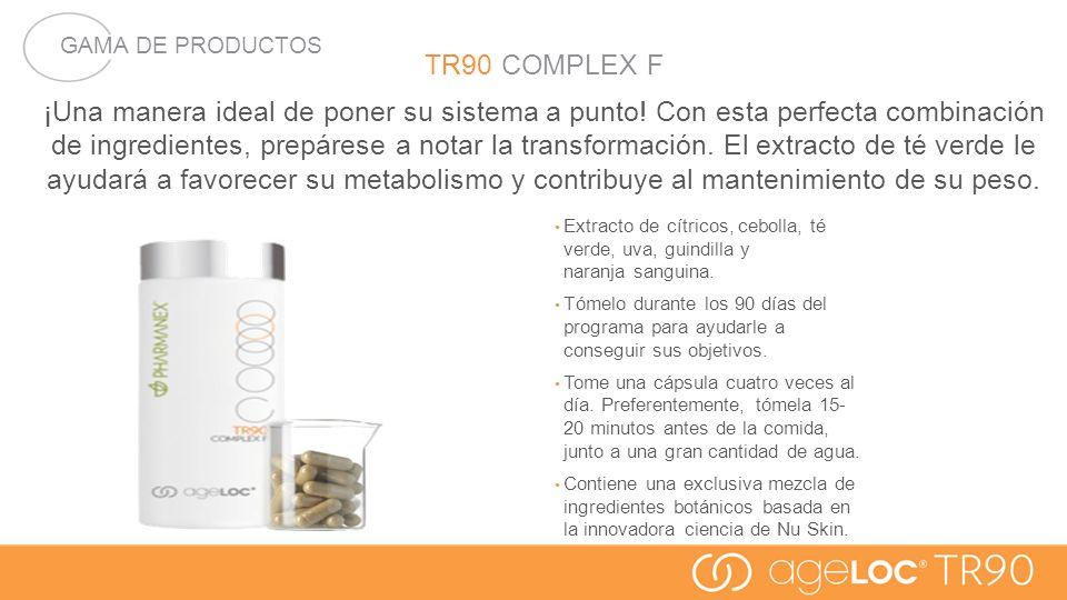 GAMA DE PRODUCTOS TR90 COMPLEX F.