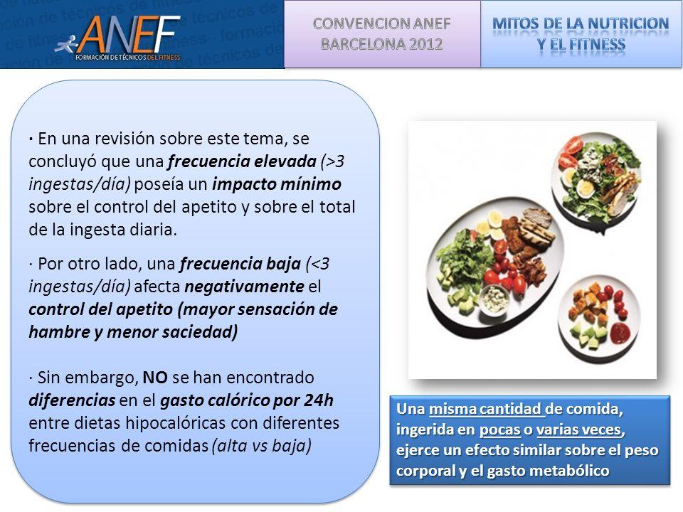 MITOS DE LA NUTRICION Y EL FITNESS