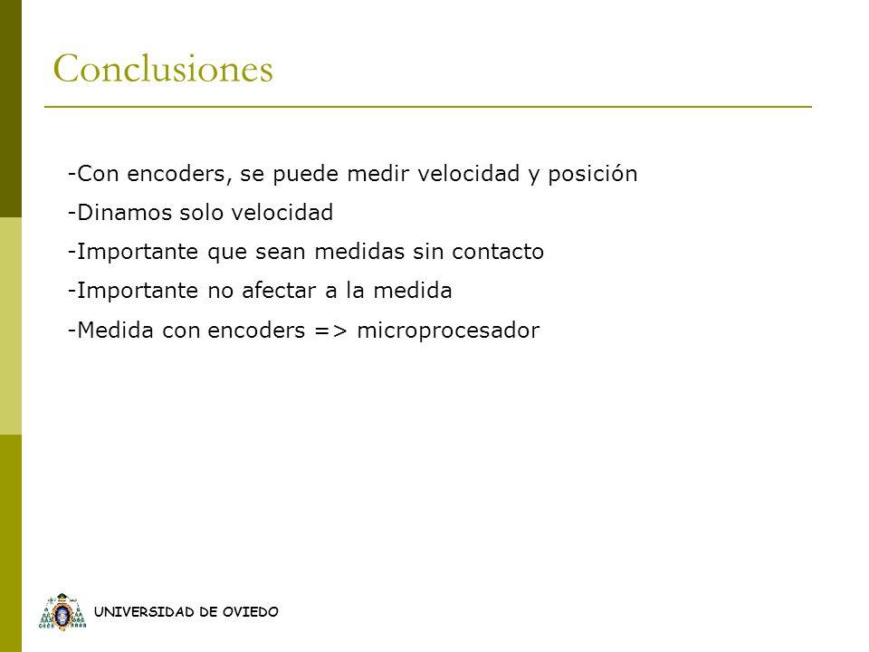 Conclusiones -Con encoders, se puede medir velocidad y posición