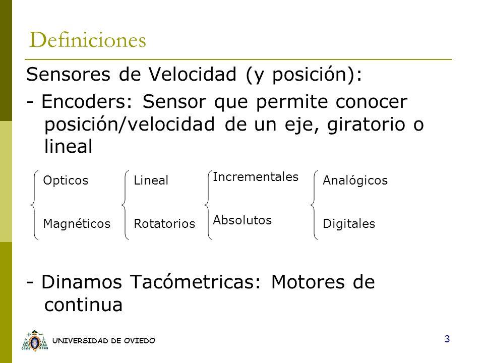 Definiciones Sensores de Velocidad (y posición):
