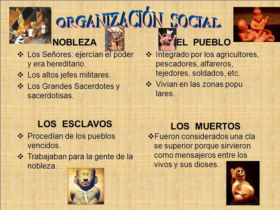 ORGANIZACIÓN SOCIAL NOBLEZA EL PUEBLO LOS ESCLAVOS LOS MUERTOS